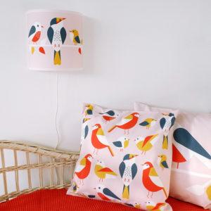 Wandlamp Vogels oud roze ANNIdesign 01