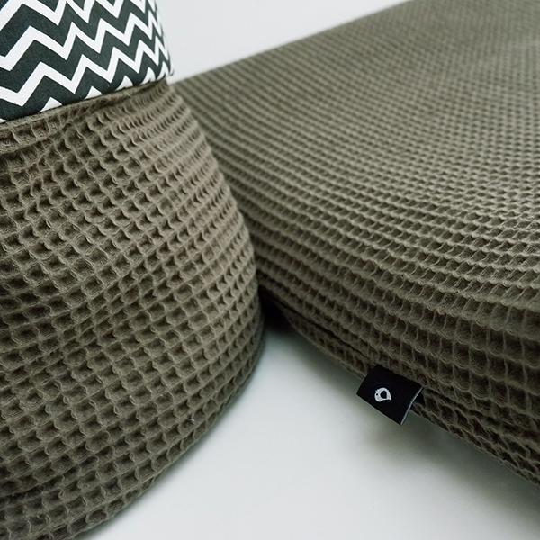 Aankleedkussenhoes Basic vintage groen ANNIdesign 03