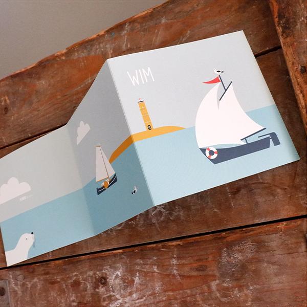Geboortekaart Wadden zee drieluik ANNIdesign 01