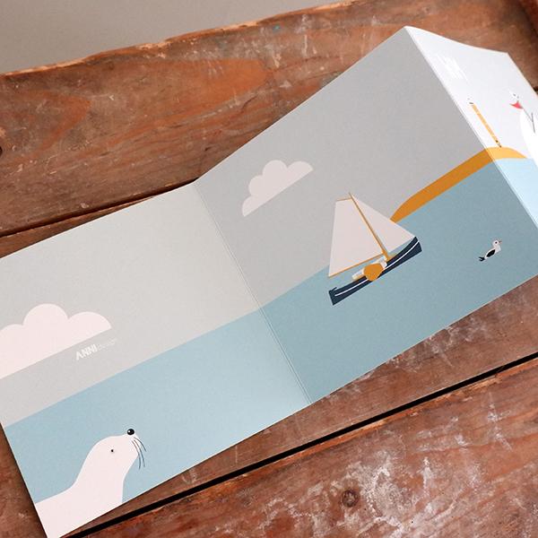 Geboortekaart Wadden zee drieluik ANNIdesign 03