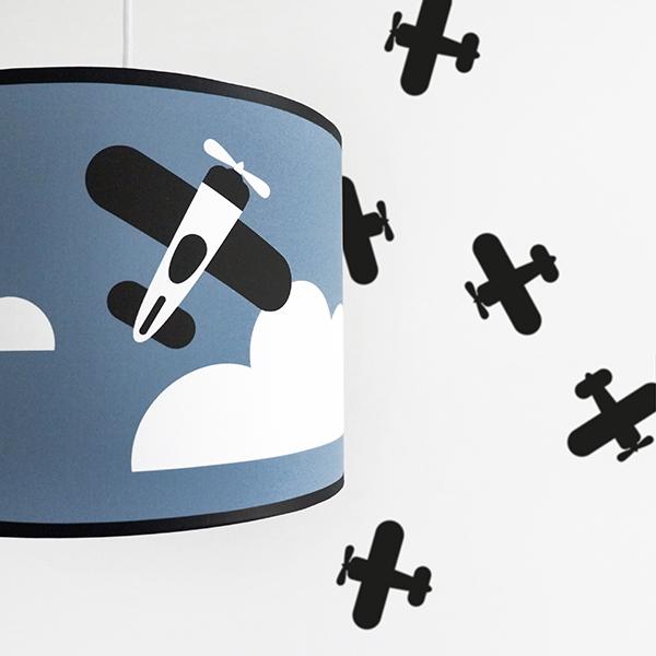 Lamp Vliegtuig en Wolk jeans blauw ANNIdesign 02