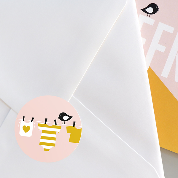 Sluitsticker Waslijn oker op oud roze ANNIdesign 03