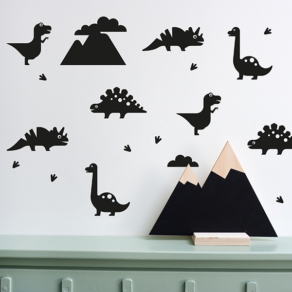 Muursticker Dino zwart ANNIdesign 01