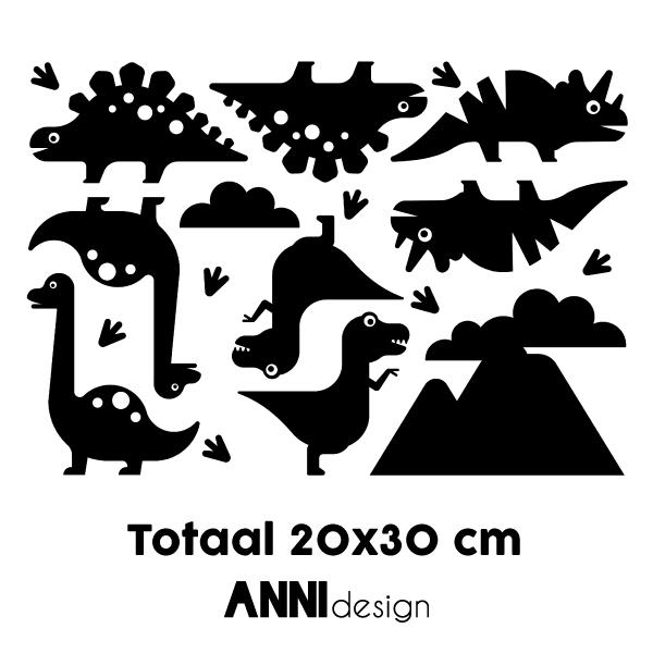 Muursticker Dino zwart ANNIdesign 02
