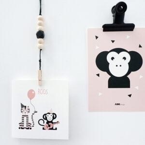 Geboortekaart Feestbeest oud roze ANNIdesign 01
