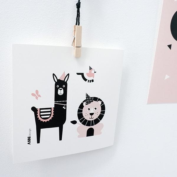 Geboortekaart Feestbeest oud roze ANNIdesign 03