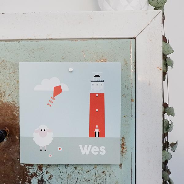 Geboortekaart Wadden schaap Texel ANNIdesign 01