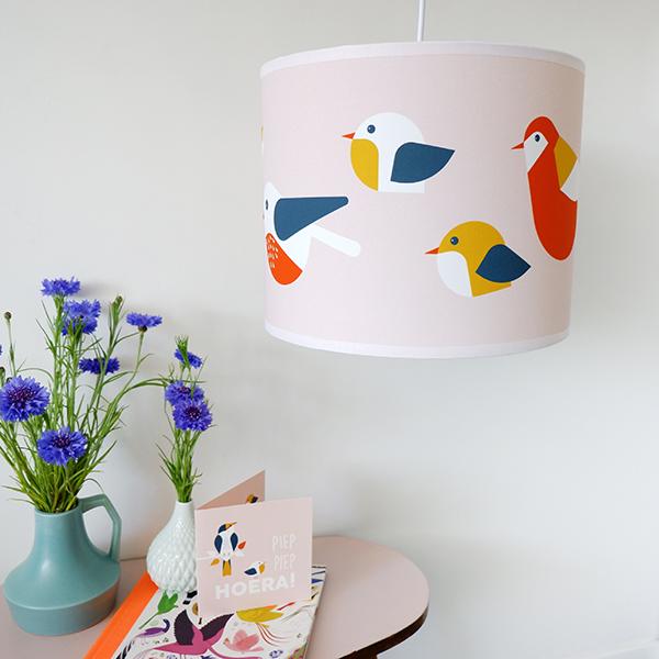 Lamp Vogels oud roze ANNIdesign 01