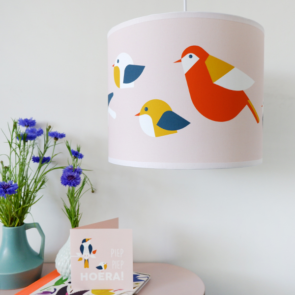 Lamp Vogels oud roze ANNIdesign 04