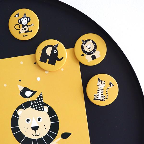 Magneet Feestbeesten oker geel FC ANNIdesign 01