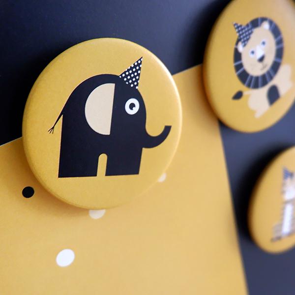 Magneet Feestbeesten oker geel FC ANNIdesign 02
