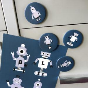 Magneet Robot donker blauw ANNIdesign 01