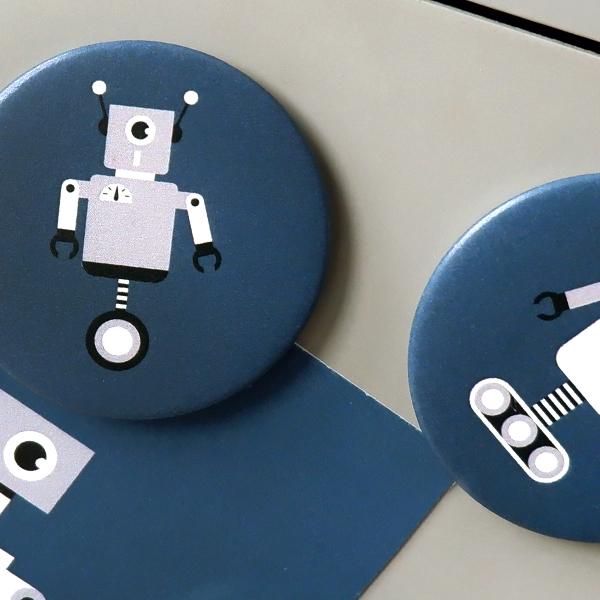 Magneet Robot donker blauw ANNIdesign 02