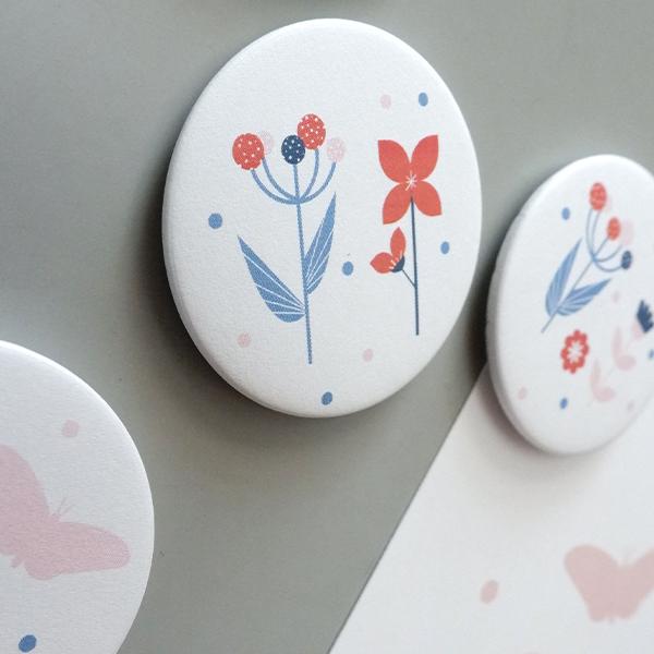 Magneet bloemen jeansblauw ANNIdesign 02