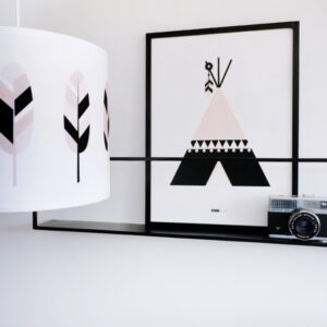 Poster Indiaan Tipi oud roze ANNIdesign 01
