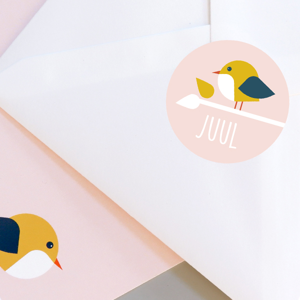 Sluitsticker Vogel oud roze_ANNIdesign_03