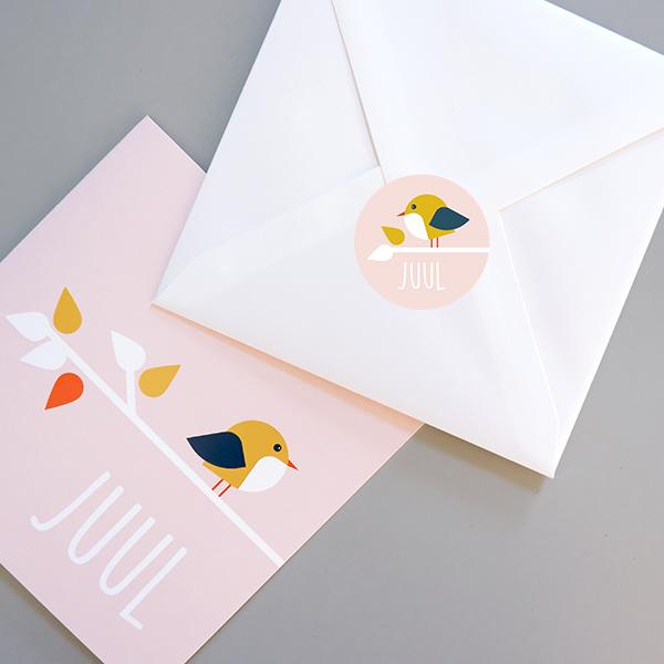 Sluitsticker Vogel oud roze_ANNIdesign_04