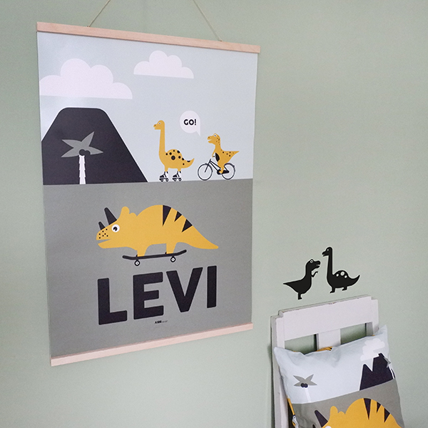 Poster XL Dino met naam ANNIdesign 01