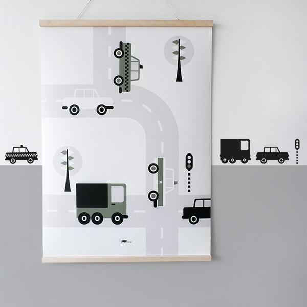 Poster XL Voertuigen Auto olijf groen ANNIdesign 01