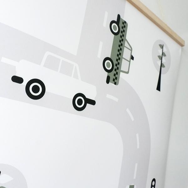 Poster XL Voertuigen Auto olijf groen ANNIdesign 02