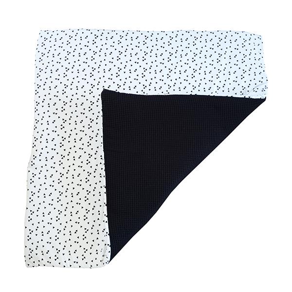 Speelkleed_Triangop wit_Wafelstof zwart_ANNIdesign