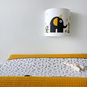 Wandlamp Feestbeesten oker geel ANNIdesign 01