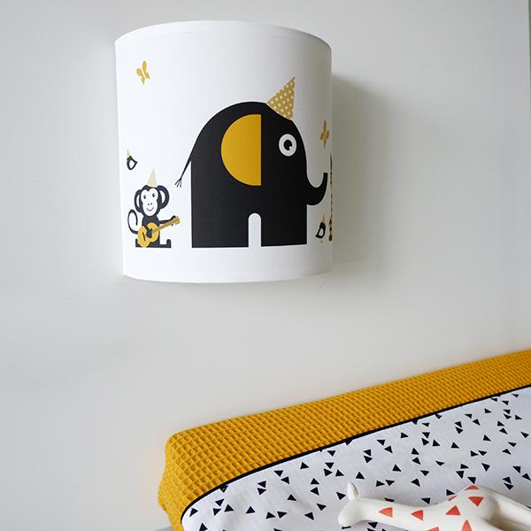 Wandlamp Feestbeesten oker geel ANNIdesign 04