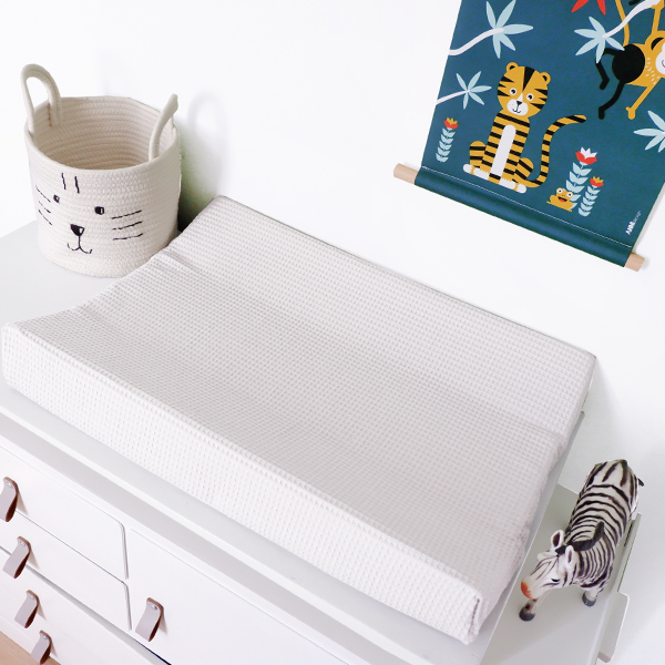 Aankleedkussenhoes Basic_wafelstof wit ANNIdesign 01