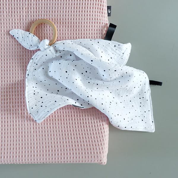 Knuffeldoekje baby hydrofiel wit ANNIdesign 01