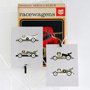 Poster set Raceauto grijs ANNIdesign 01