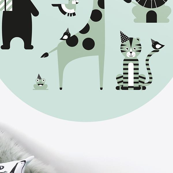 Behangcirkel Feestbeesten old green ANNIdesign 02