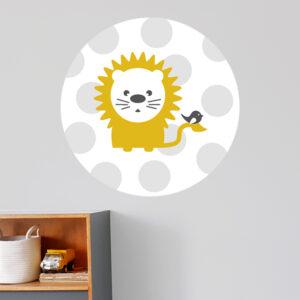 Behangcirkel Leeuw met stip ANNIdesign 01