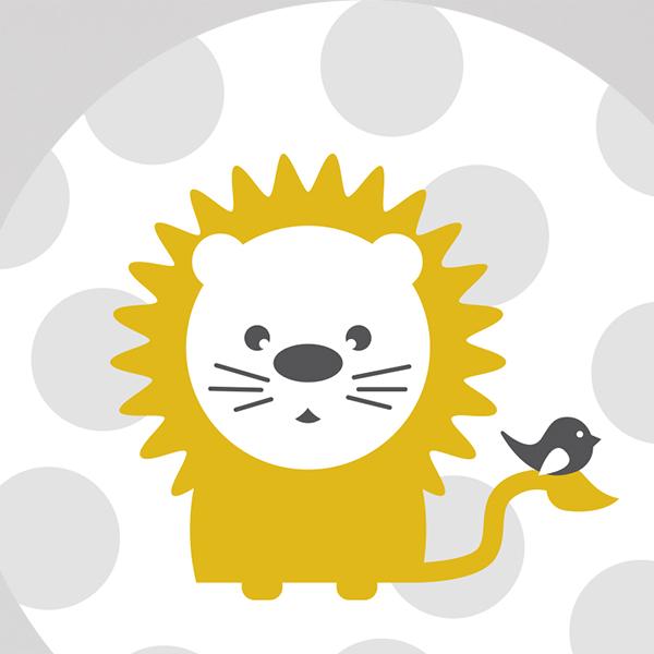 Behangcirkel Leeuw met stip ANNIdesign 02
