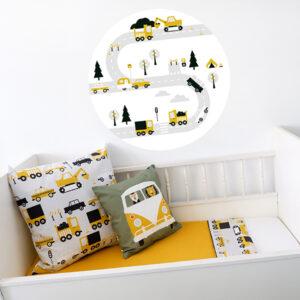 Behangcirkel Voeruigen oker geel ANNIdesign 01