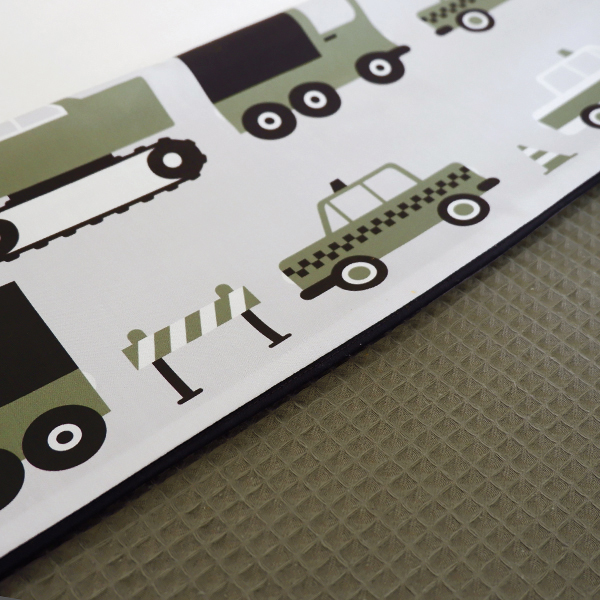 Ledikantdeken Voertuigen olijf groen_Wafelstof vintage groen ANNIdesign 02