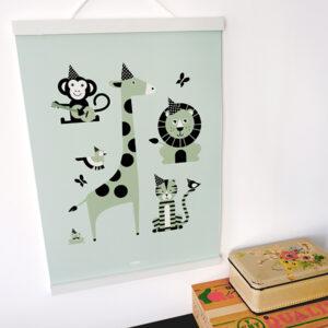 Poster Feestbeesten old green ANNIdesign 01