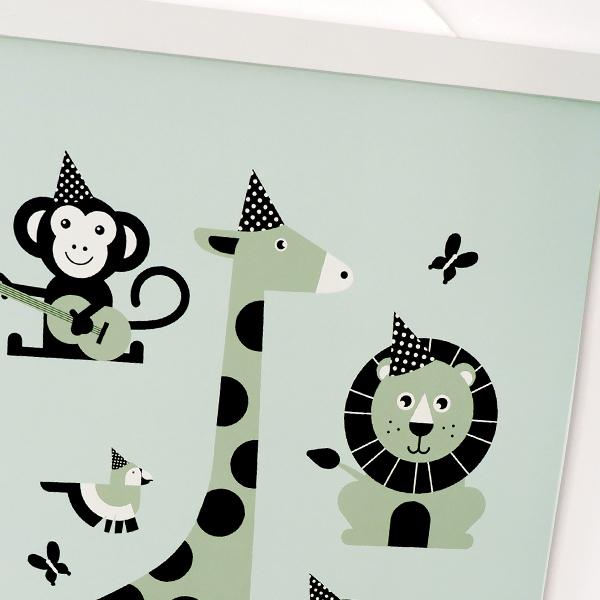 Poster Feestbeesten old green ANNIdesign 02