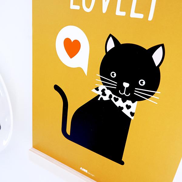 Poster Kittens Lovely oker geel ANNIdesign 02