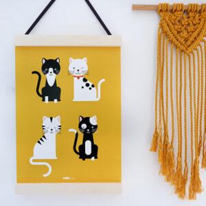 Poster Kittens oker geel ANNIdesign 03