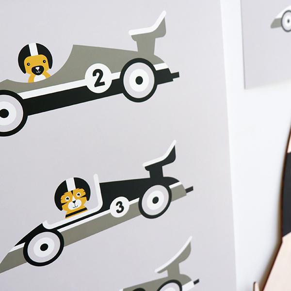 Poster Raceauto grijs ANNIdesign 02