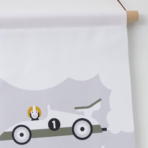 Textielposter Raceauto grijs ANNIdesign 02