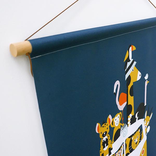 Textielposter Safari donker blauw ANNIdesign 06