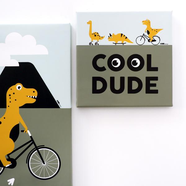 Canvas Dino Cool dude ANNIdesign 01