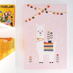 Canvas Lama roze 40x60 ANNIdesign 01
