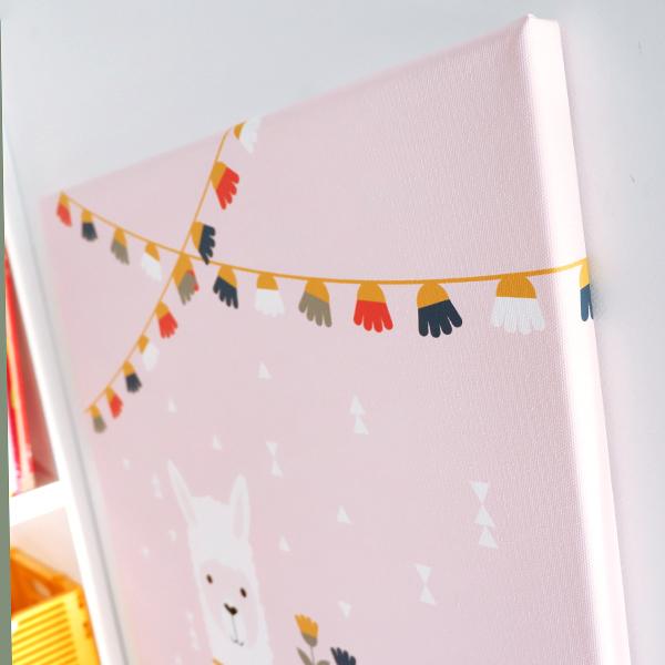 Canvas Lama roze 40x60 ANNIdesign 02