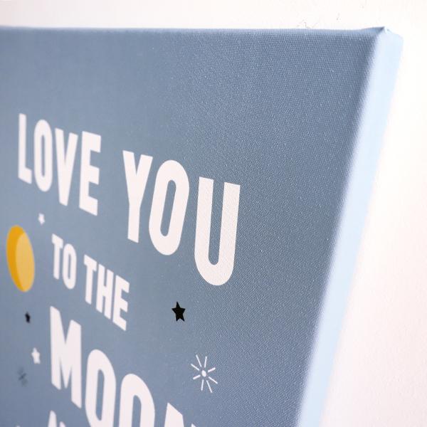 Canvas Raket Love moon jeans blauw 40x60 ANNIdesign 02