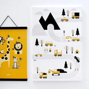 Canvas Voertuigen oker geel 40x60 ANNIdesign 02