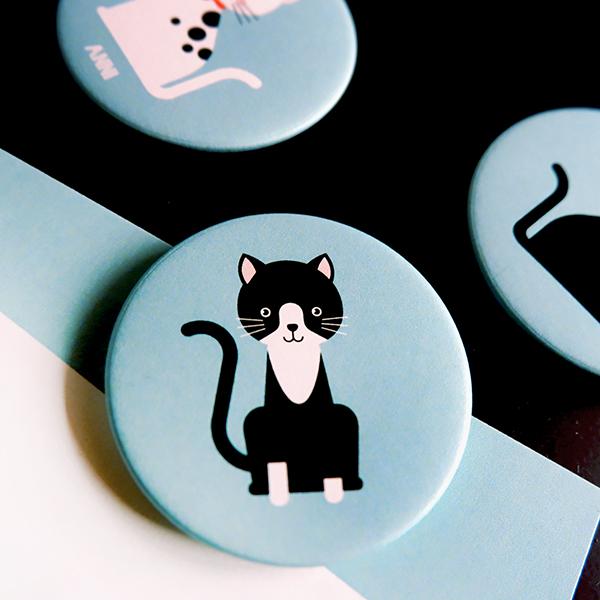 Magneet Kittens donker blauw ANNIdesign 02