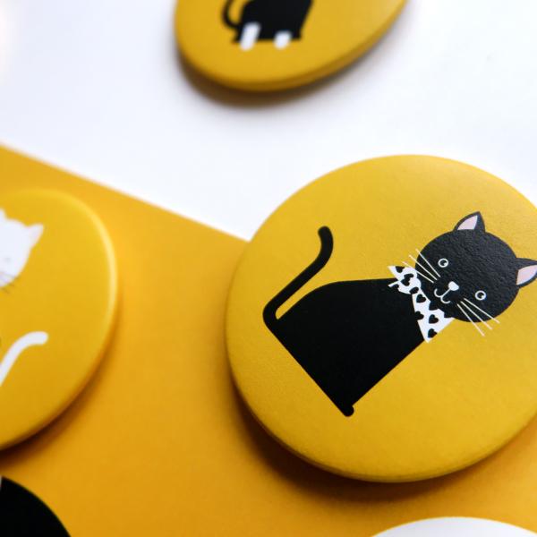Magneet Kittens oker geel ANNIdesign 02