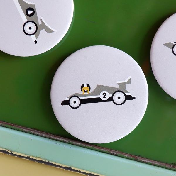 Magneet Raceauto grijs ANNIdesign 02